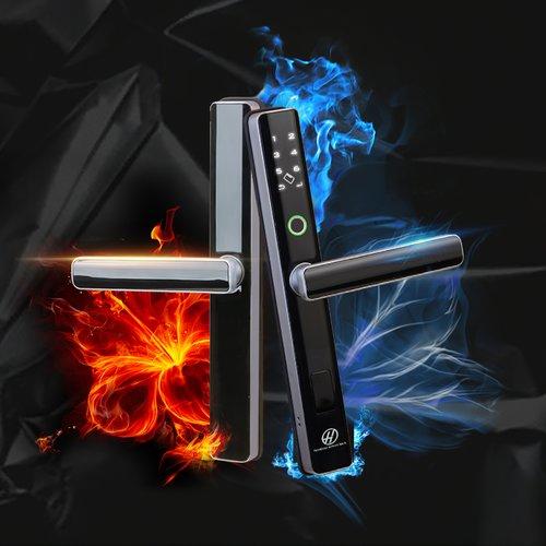 Khóa cửa vân tay dành cho cửa nhôm Hamboo HSAG005 (Wifi)