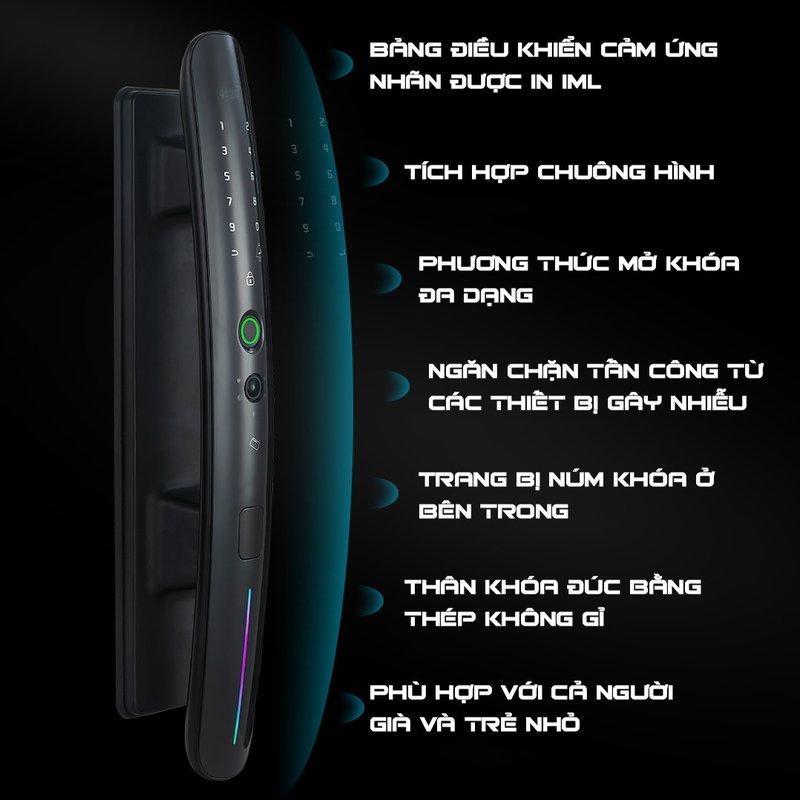 Khóa cửa vân tay tự động tích hợp chuông hình Hamboo HSS002 (Wifi)