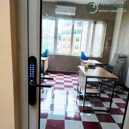 Lắp đặt khóa thông minh HSAG002 và HSAG005 cho văn phòng tại Trung Kính, Cầu Giấy, Hà Nội