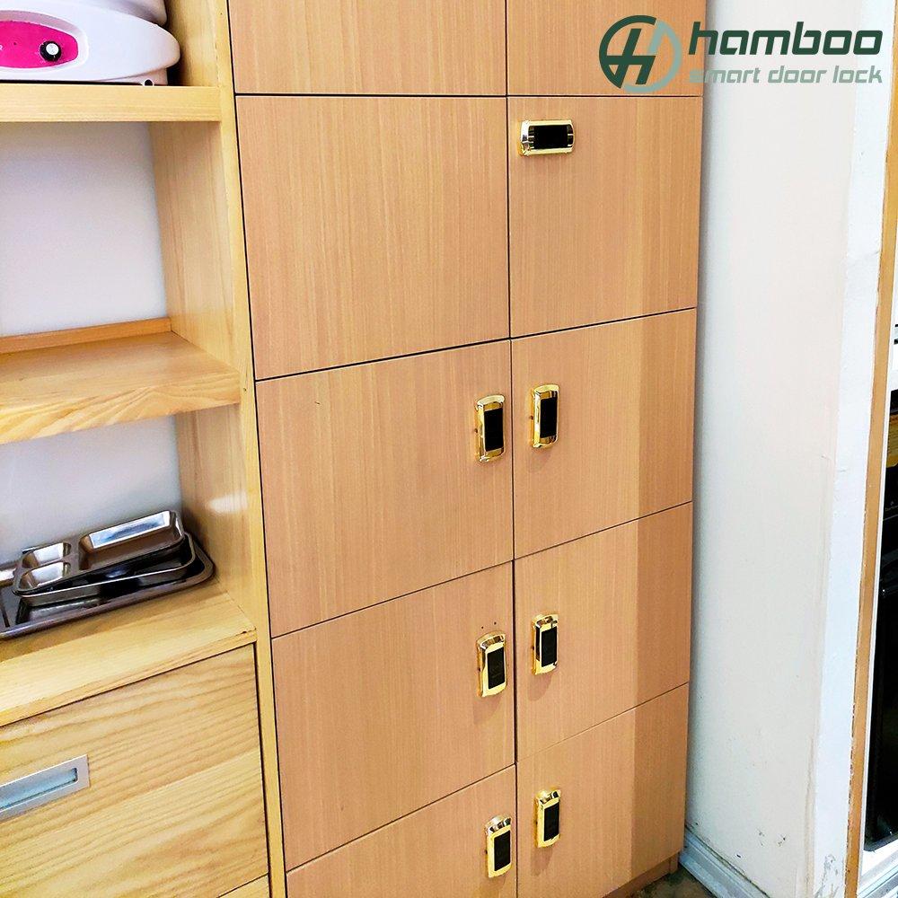 Lắp đặt khóa tủ thẻ từ HSB001 cho Spa tại trung tâm thương mại Vinhomes Royal City