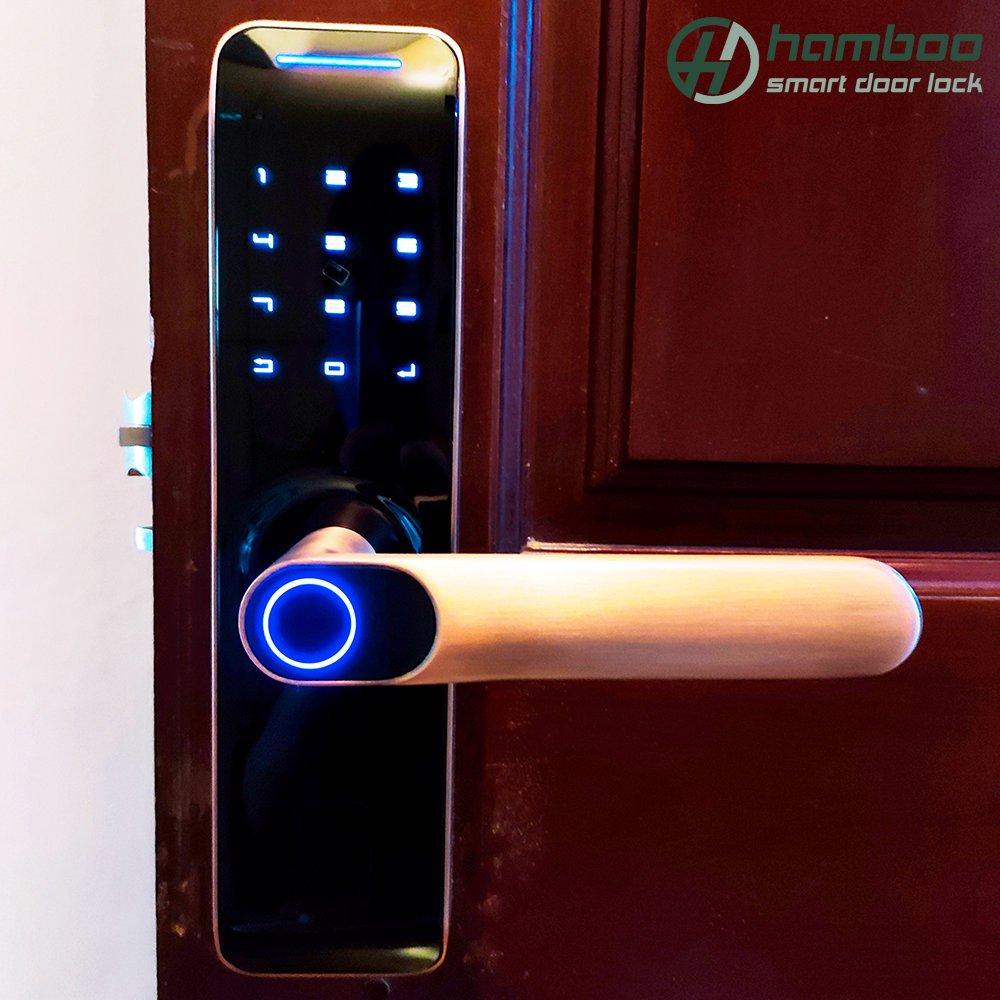 Lắp đặt khóa thông minh HSF005 cho căn hộ chung cư Nàng Hương